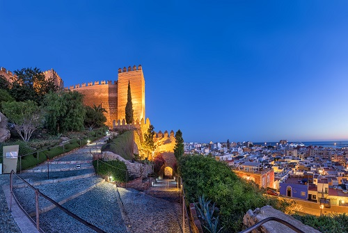 Vista de la ciudad de Almería desde la muralla de la Alcazaba